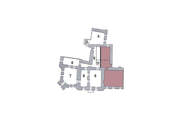 Квартира, в которой жил Иосиф Бродский (его комната под номером 8), после вынужденной перепланировки. Изображение № 1.