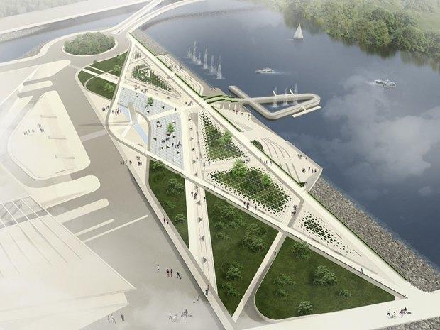 Объявлен победитель пятого конкурса концепций набережной для «Лахта центра». Изображение № 2.