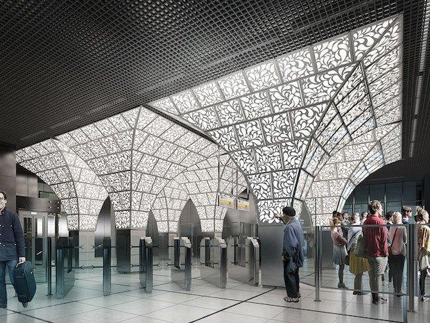 Москвичи выбрали дизайн станций метро «Новопеределкино» и «Солнцево». Изображение № 2.