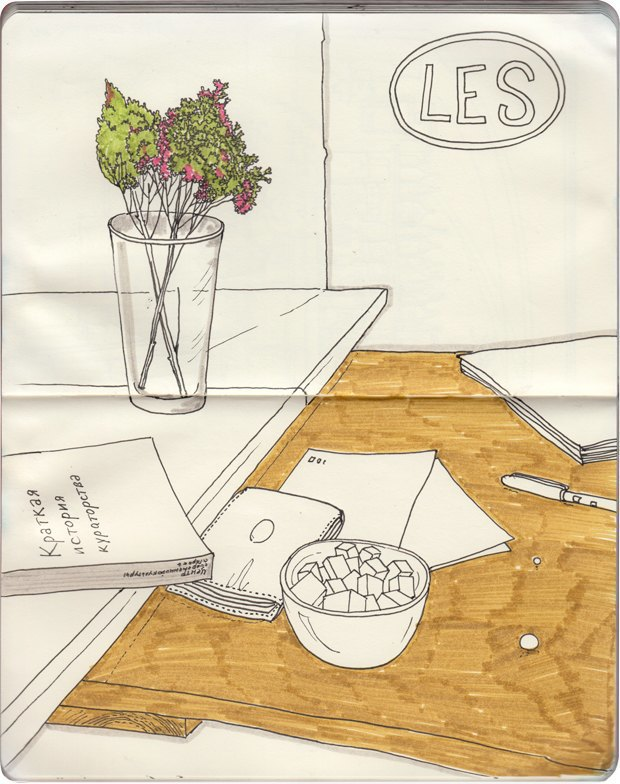 Клуб рисовальщиков: Кофейня LES. Изображение № 7.