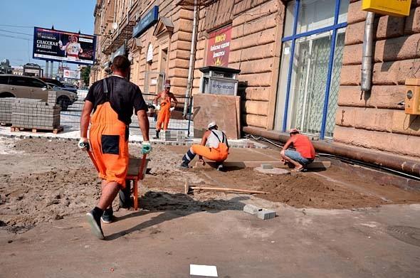 Свежая укладка: как асфальт меняют на плитку в Москве. Изображение № 20.