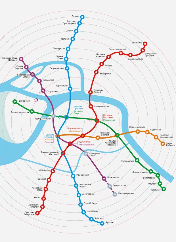 Карты на стол: 11 альтернативных схем петербургского метро. Изображение № 14.