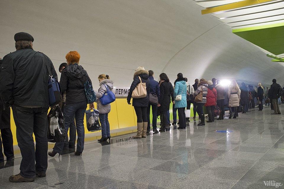 Фоторепортаж: Час пик на станции «Выхино». Изображение № 2.