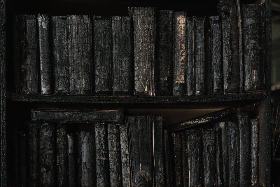 Как выглядит библиотека ИНИОН РАН через 9дней после пожара. Изображение № 7.