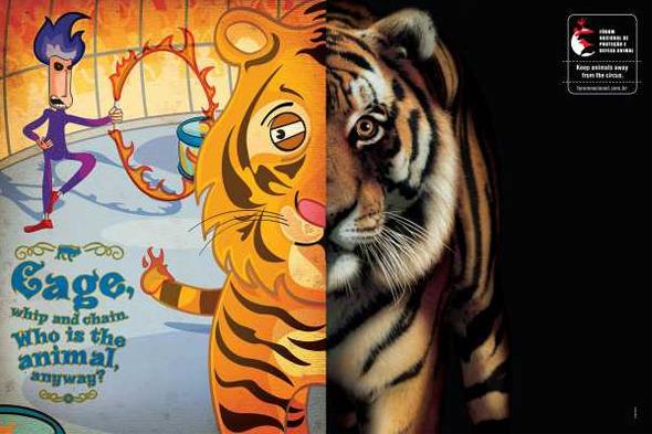 Социальная реклама бразильского агентства Longplay: «Клетка, кнут и цепь. И кто здесь животное?». Изображение № 2.