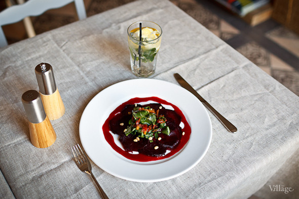 Салат из печеной свеклы с малиновой заправкой — 190 рублей. Изображение № 18.