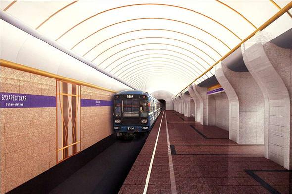 Станция метро «Бухарестская». Изображение № 5.