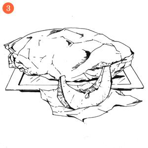 Свекольные блины с гусиным паштетом и джемом из тыквы и облепихи. Изображение № 5.