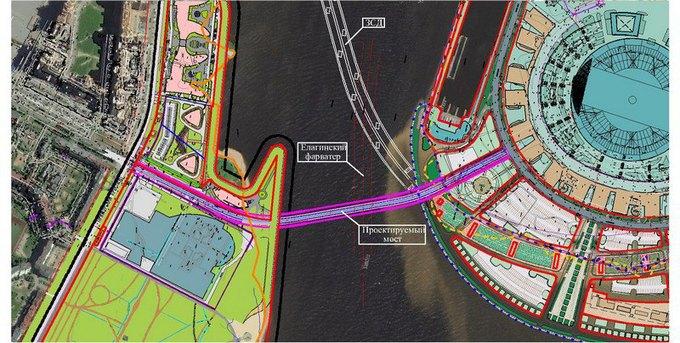 Началось строительство Яхтенного моста наКрестовский остров. Изображение № 6.