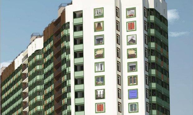 Художники нарисуют окна нажилом комплексе вМурино. Изображение № 1.