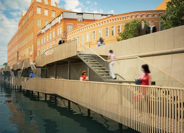 В Москве предложили построить деревянные набережные. Изображение № 2.