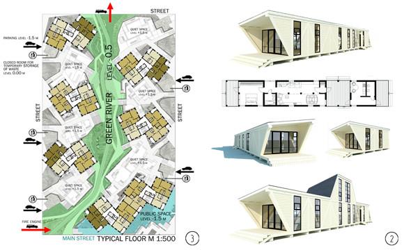 План и визуализация проекта экономичного загородного дома с возможностью модульного роста. . Изображение № 49.