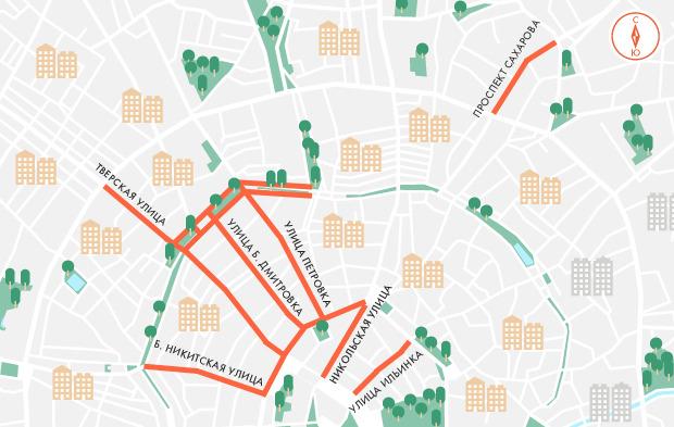 Движение по центральным улицам Москвы ограничат в День города. Изображение № 1.