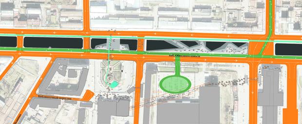 Территорию вокруг вокзала разделят на несколько функциональных  зон и озеленят. Изображение № 28.