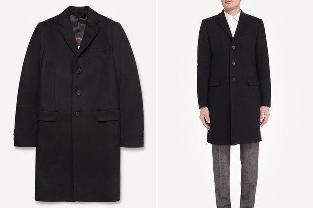 чёрное мужское пальто фото