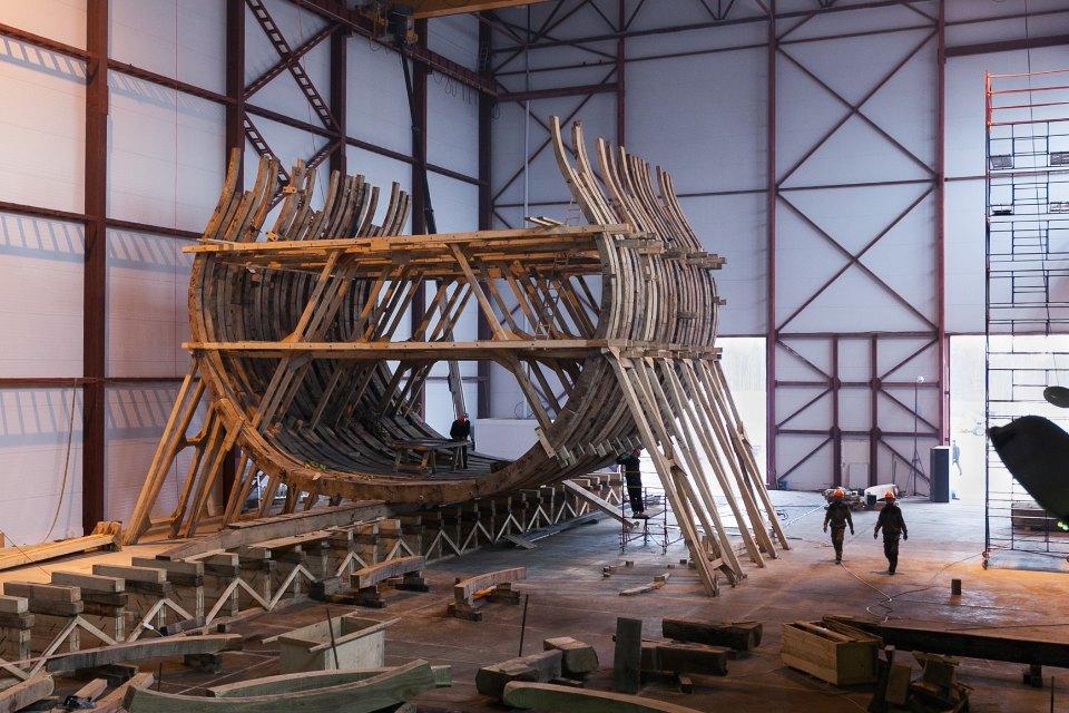 Как вПетербурге строят корабль петровского времени. Изображение № 2.