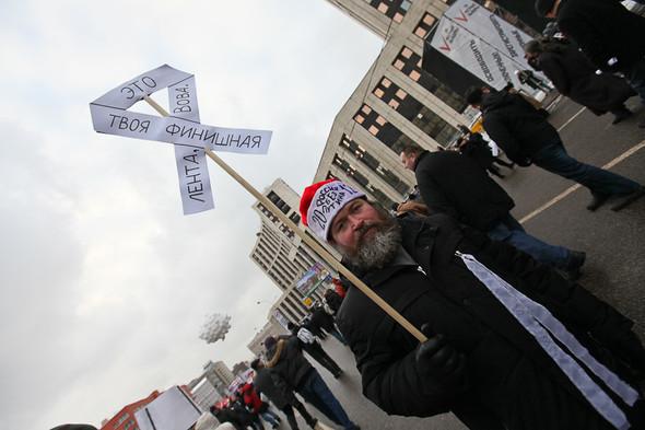 Митинг «За честные выборы» на проспекте Сахарова: Фоторепортаж, пожелания москвичей и соцопрос. Изображение № 9.