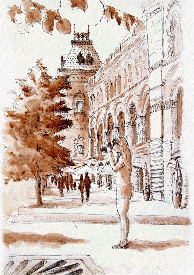 Клуб рисовальщиков: ГУМ. Изображение № 8.