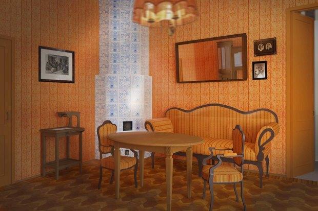 Комната-реэкспозиция киевской квартиры. Изображение № 6.