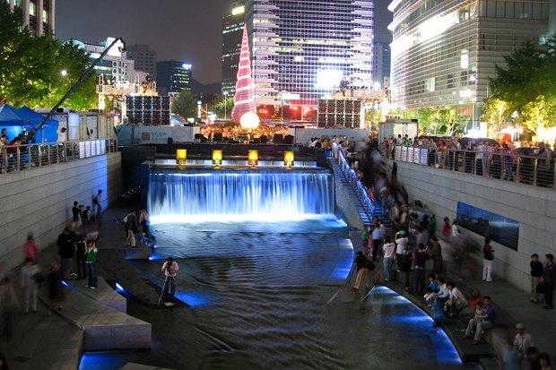 Иностранный опыт: Раскопанная река в Сеуле. Изображение № 19.