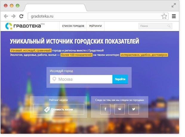 Появился сайт городской статистики «Градотека». Изображение № 1.