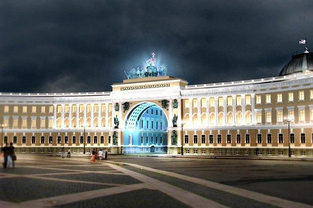 Арку Главного штаба подсветят по примеру Бранденбургских ворот. Изображение № 4.