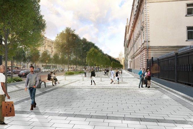 Визуализация проекта реконструкции Садово-Кудринской улицы. Изображение № 5.