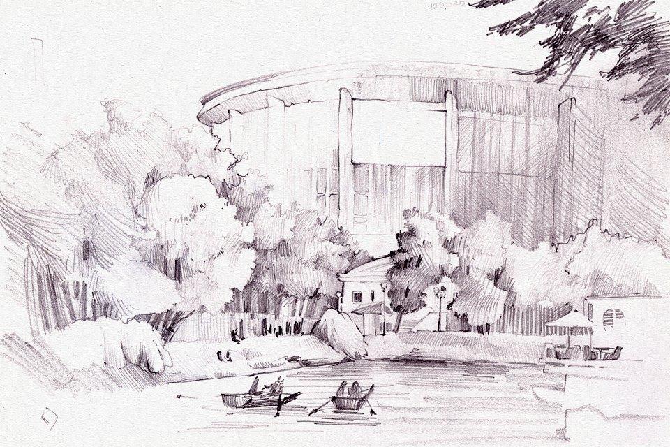 Клуб рисовальщиков: Екатерининский парк. Изображение № 5.