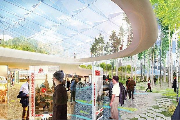 На территории будущего парка «Зарядье» появится интерактивный павильон. Изображение № 3.