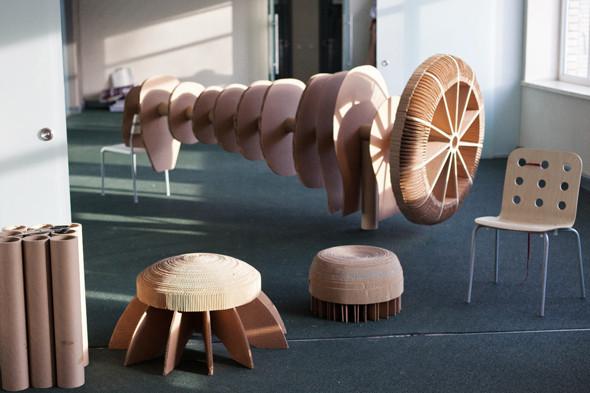 Экологическая мебель из прессованного картона, которую производят в пространстве «Факел». Некоторые предметы мебели будут закупать для администрации района. Изображение № 27.