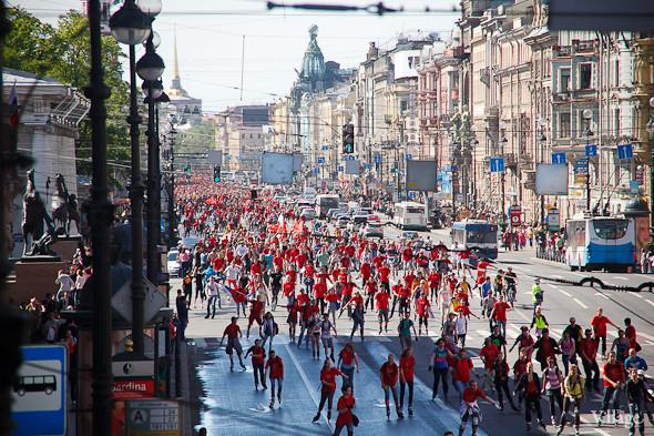 Спорт в городе: Пробег роллеров, велопарад и «Русская пробежка». Изображение № 17.