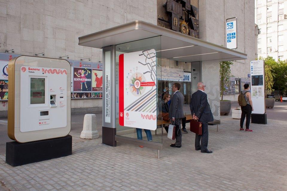 Wi-Fi, USB-порты и автомат попродаже билетов — вМоскве открыли современную остановку транспорта. Изображение № 2.