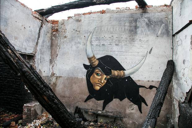 Уличные художники расписали исторические склады вКронштадте. Изображение № 1.