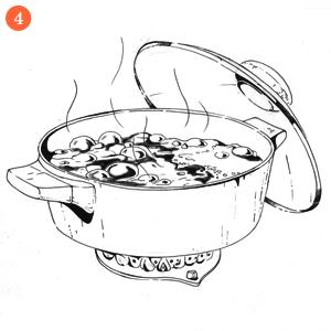Свекольные блины с гусиным паштетом и джемом из тыквы и облепихи. Изображение № 6.