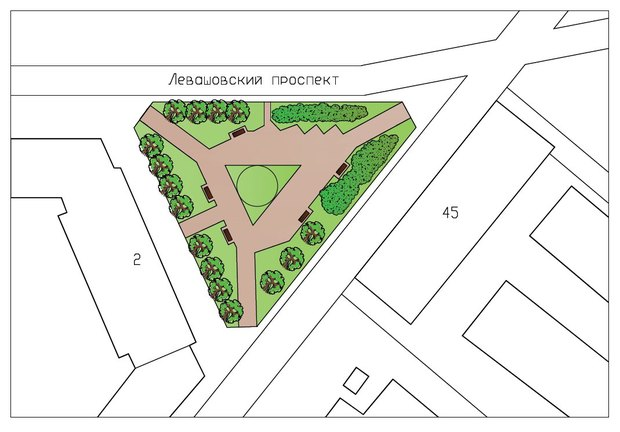 Левашовский сквер на Петроградской открыли после реконструкции. Изображение № 1.