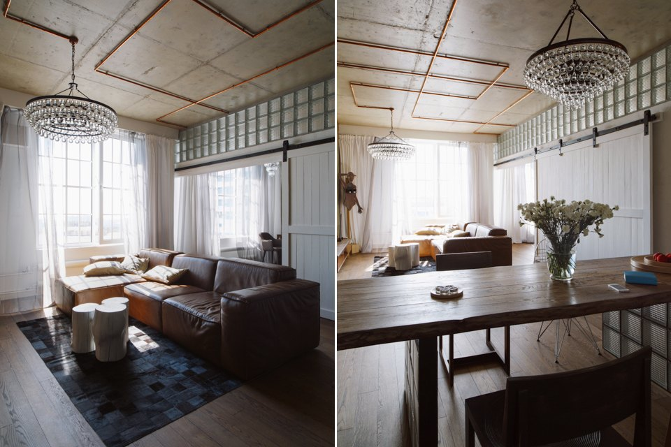 Трёхкомнатная квартира виндустриальном стиле. Изображение № 16.