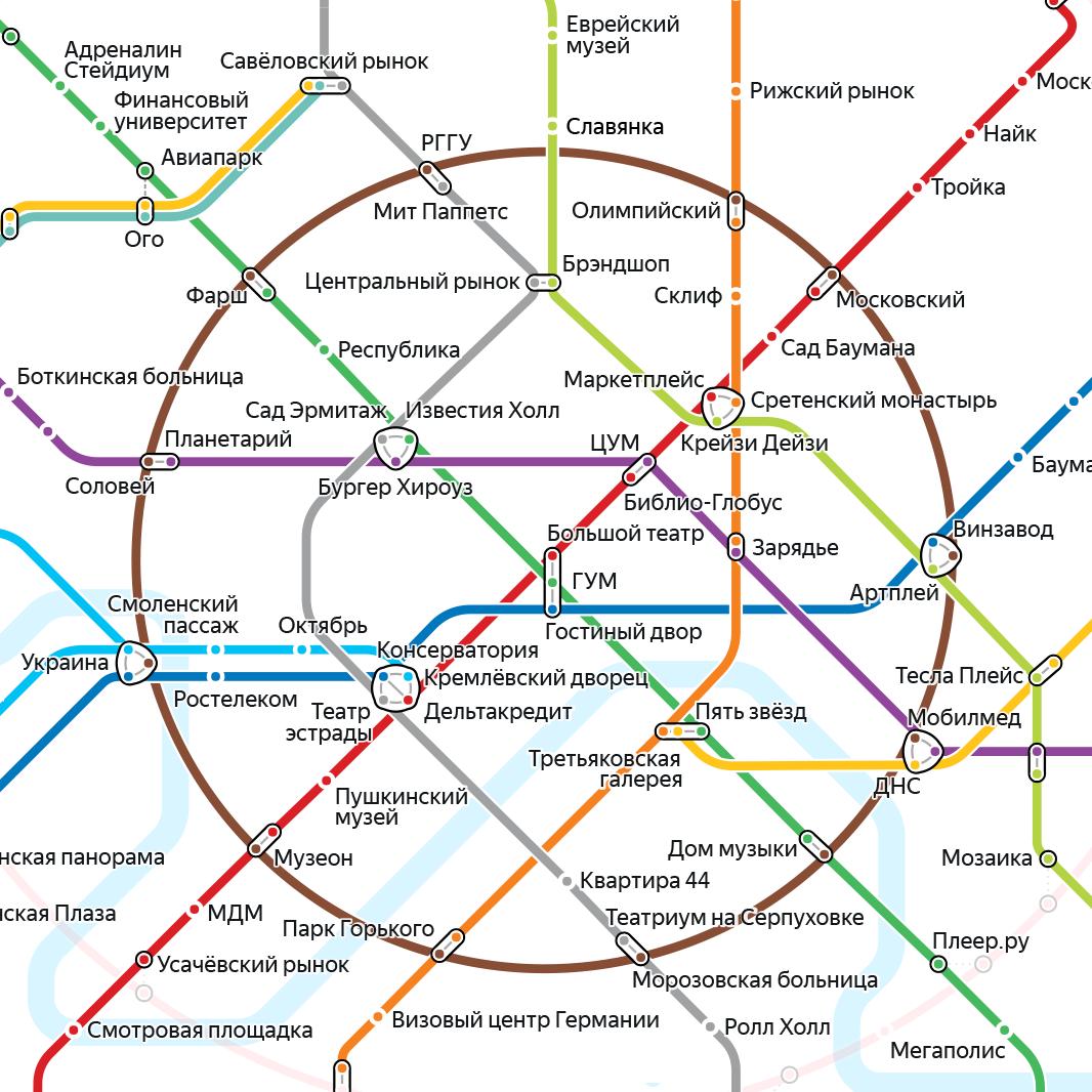 карта в москве метро
