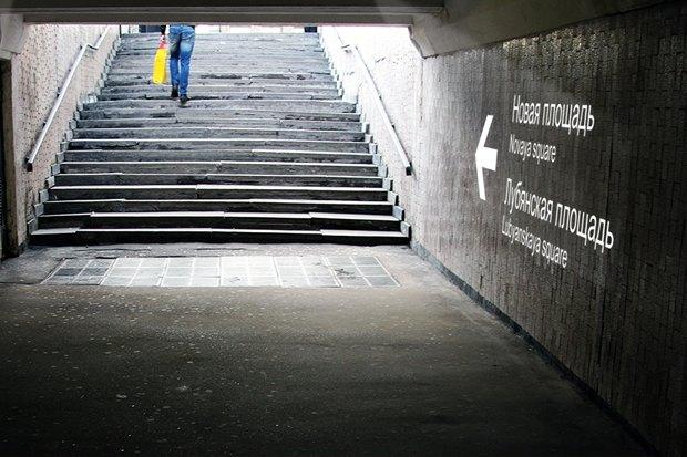 Для подземных переходов придумали световую навигацию. Изображение № 3.