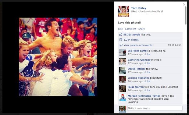 Британский прыгун в воду Том Дейли получил бронзу и почти сто тысяч лайков за одно только фото.. Изображение № 10.