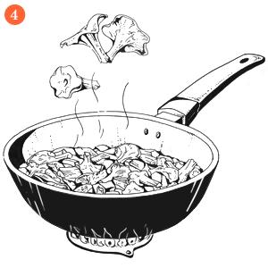 Вегетарианская брускетта стофу в медово-горчичном соусе с лисичками. Изображение № 6.