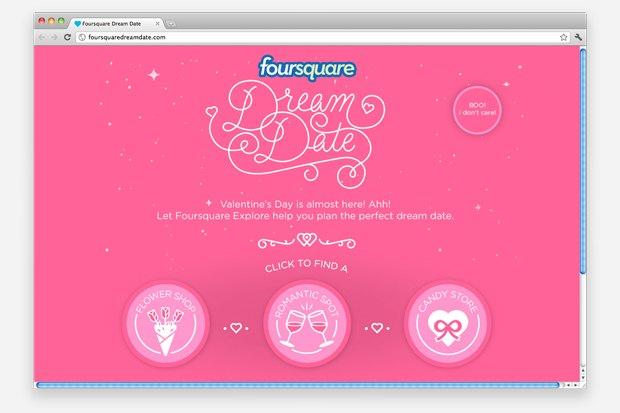 Foursquare запустил два сервиса ко Дню cвятого Валентина. Изображение № 1.