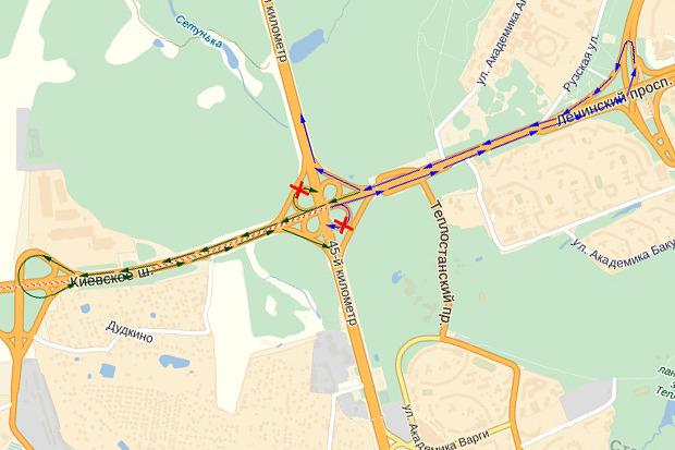 На Киевском шоссе хотят отменить правые повороты на МКАД. Изображение № 1.