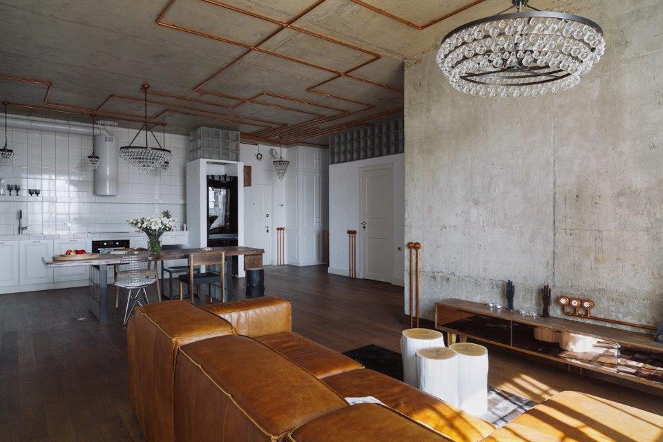 Трёхкомнатная квартира виндустриальном стиле. Изображение № 19.
