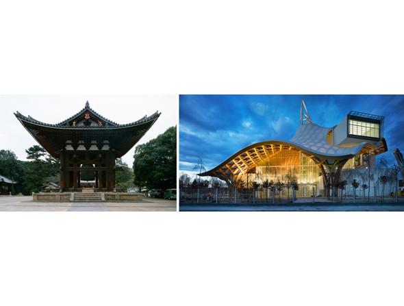 1. Колокольня Тодайдзи, Япония. Архитектор: Эйсай, XIII век. Фото: Уилл Прайс  2. Центр Помпиду-Метц, Метц, Франция. Архитектор: Шигеру Бан 2010 год. Фото: Roland Halbe