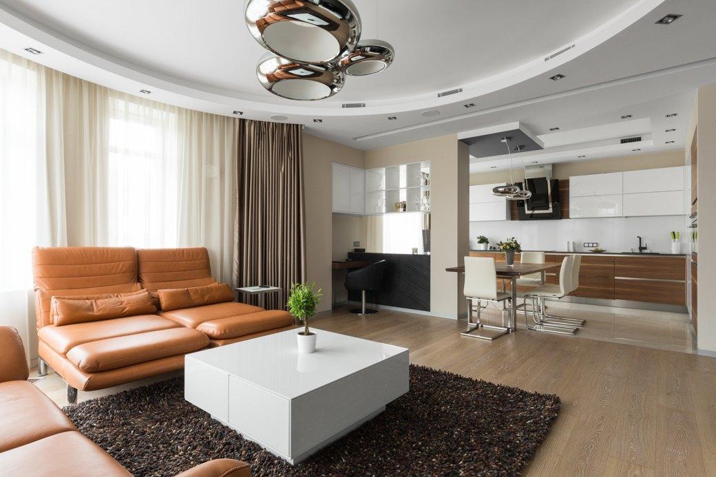 Большая квартира сострогим интерьером в«Парадном квартале» (Петербург). Изображение № 7.
