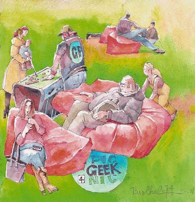 Клуб рисовальщиков: Geek Picnic. Изображение № 10.