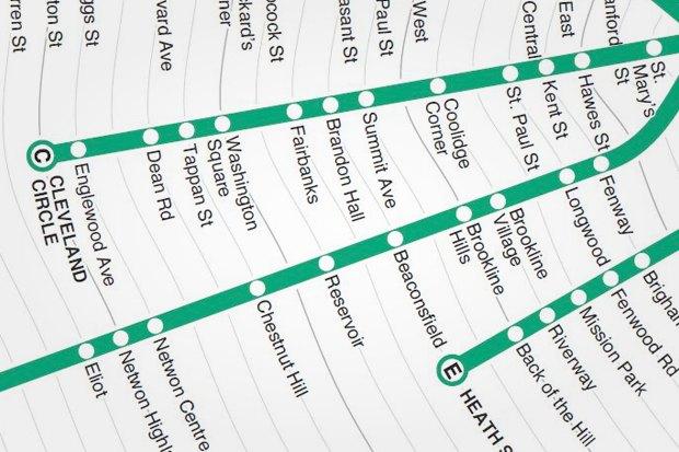 Идеи для города: Карта метро Бостона с временными отрезками. Изображение № 6.