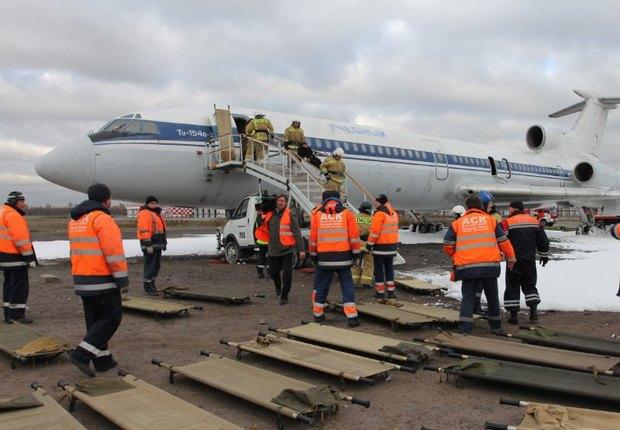«Горящий» самолёт на учениях в аэропорту Пулково. Изображение № 3.