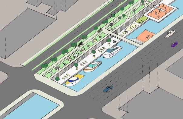 Игровая зона: судна для аренды, дополнительный уровень набережной, зоны отдыха, площадки для игр в шахматы, домино. Изображение № 6.