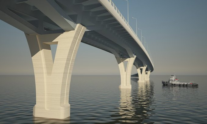 Началось строительство Яхтенного моста наКрестовский остров. Изображение № 1.